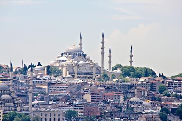 Городской пейзаж стамбула, турция