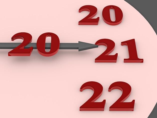 時計の矢印は図2021を指しています