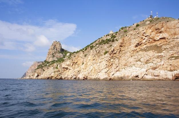 クリミアの黒海沿岸の海岸線