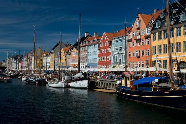 コペンハーゲンのニューハウンのカラフルな建物