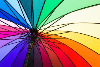 The colors of the rainbow umbrella