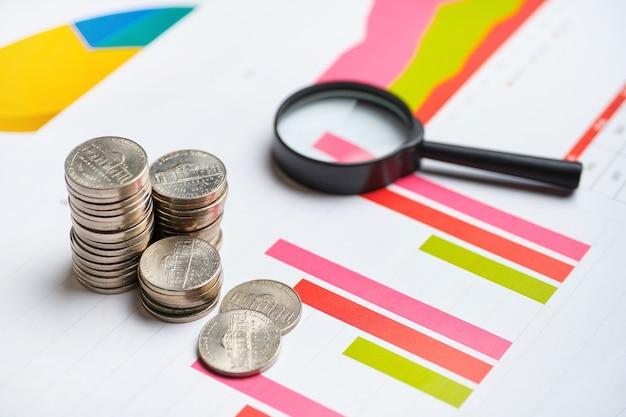 Концепция анализа доходов в бизнесе фирмы на графиках с отчетом.