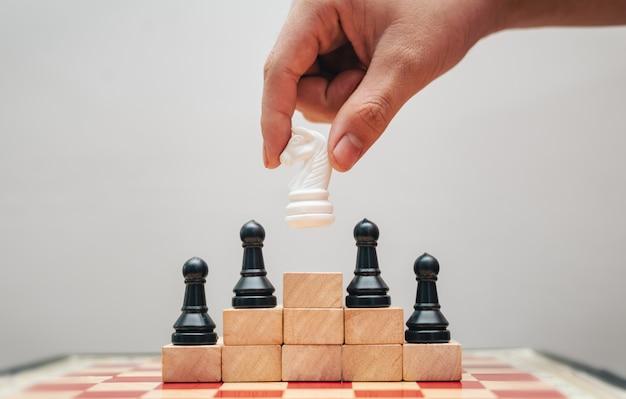 チェス盤でのビジネスの成功の概念