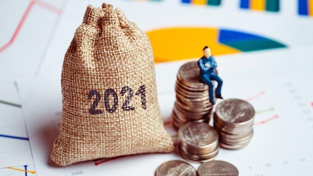 Концепция капитала и успеха в бизнесе в 2021 году.