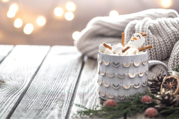 マシュマロとクリスマスココアのコンセプト