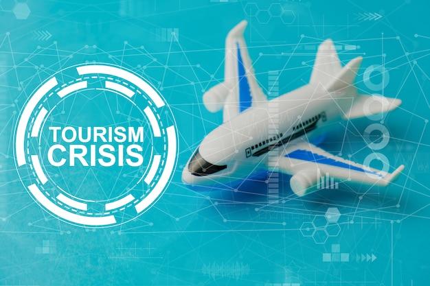 여행 및 관광 사업에 대한 수요 감소의 개념.
