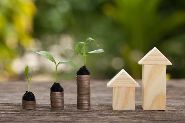 家を買うための財政的貯蓄の概念。