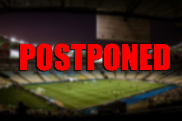 スポーツイベントの延期の概念。