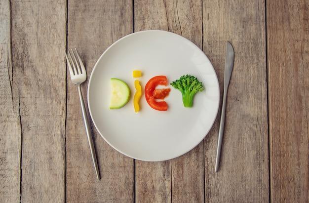 Концепция правильного питания. рацион питания. выборочный фокус.
