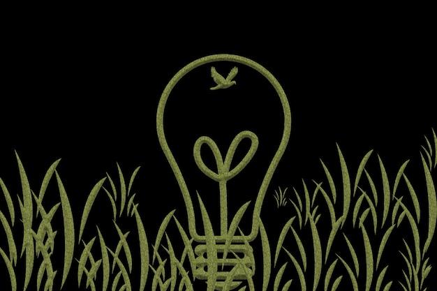 電気を節約して生成し、地球を保護するという概念。