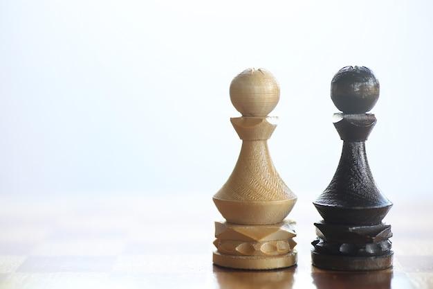 Концепция игры в шахматы в мыслях о поле битвы