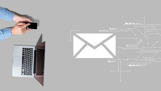 이메일 및 메시징 사용의 개념.