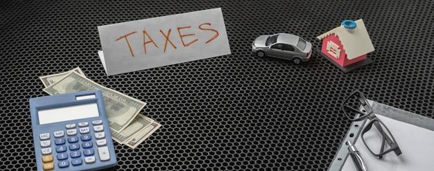 세금을 내기 위해 돈 계산, 달러 통화 재정 예산