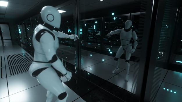 Танцующий робот в серверной