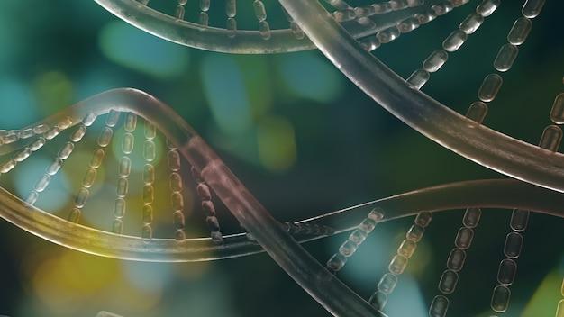 Изображение днк для 3d-рендеринга научного или медицинского контента.