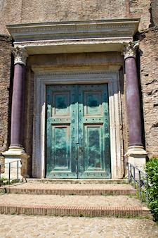 포럼, 로마, 이탈리아에서 romolo 사원의 문