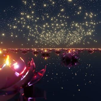 축제의 배경 화면을 위한 빛 deepavali 배경의 축제 및 축하 장면