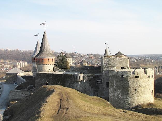 우크라이나의 구시 가지 kamenetz-podolsk에있는 요새