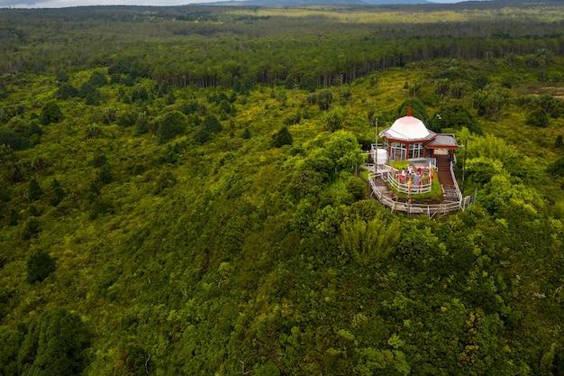 Храм ганга талао в гранд-бассине, саванна, маврикий.