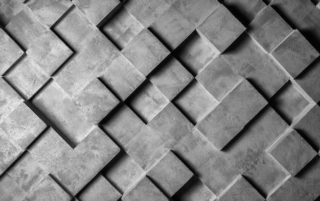 灰色の織り目加工の壁は立方体でできています