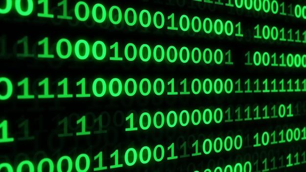 緑のコードはプログラミングを暗い背景にしました