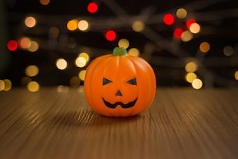 The Halloween  in night light background.