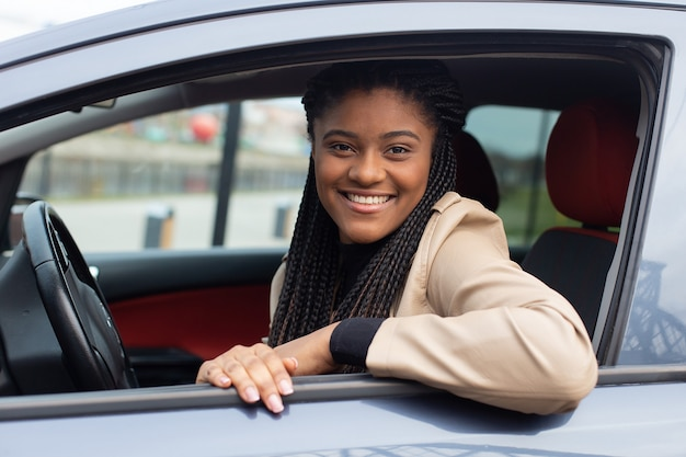 자동차 운전, 아프리카 계 미국인 행복 소녀