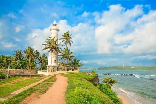 스리랑카의 역사적인 갈 요새 등대