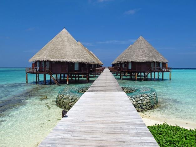 モルディブのホテル、インド洋