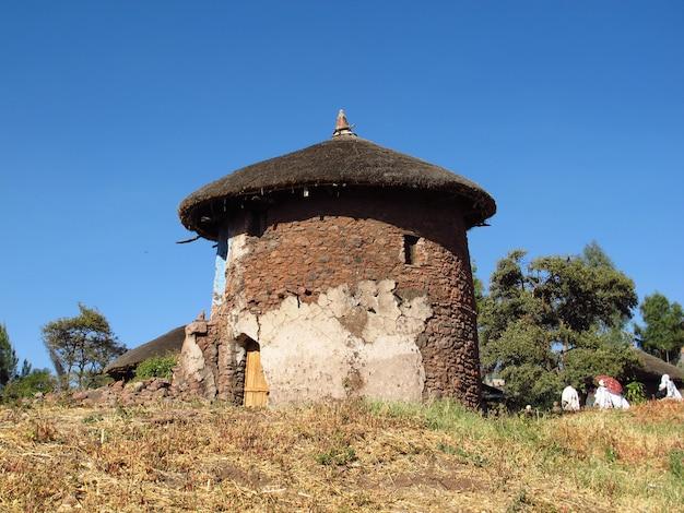 エチオピアのラリベラ市の家