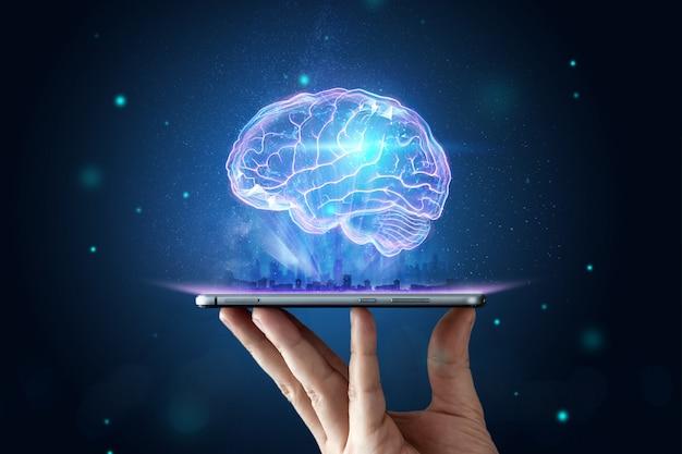 인간 두뇌의 이미지
