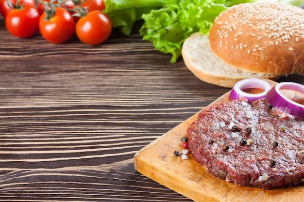 ハンバーガーの材料