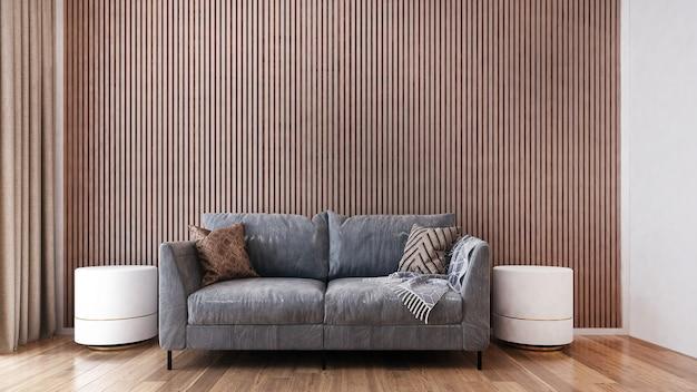 Дизайн интерьера гостиной и деревянной стены
