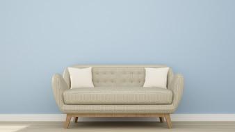 The interior living space minimal design in apartment