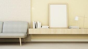 The interior minimal living space in condominium