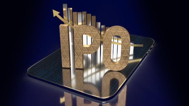 Ipo или первичное публичное предложение для 3d-рендеринга бизнес-концепции
