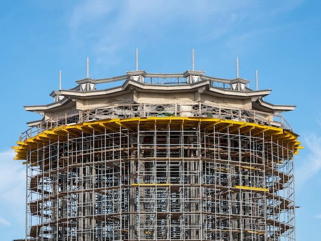 건설 거푸집 공사의 대형 건물