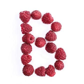 Буква b английского алфавита красной спелой малины