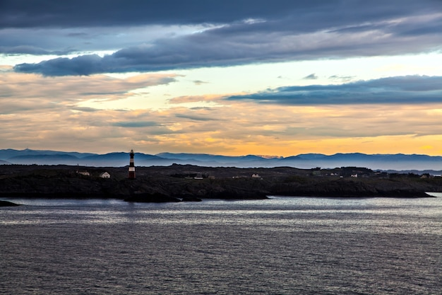 ノルウェー、北海沿岸の灯台