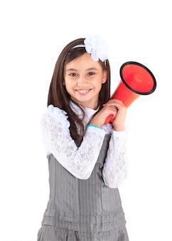 Маленькая девочка с мундштуком.