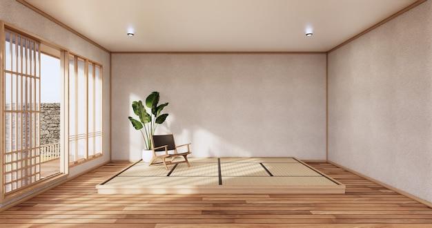 최소한의 방 일본식 design.3d 렌더링