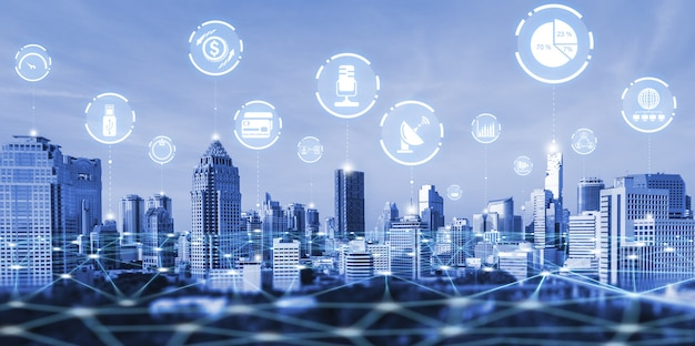 Современное творческое общение и интернет-сеть соединяются в умном городе
