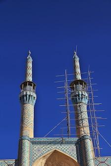Yazd 도시이란의 모스크