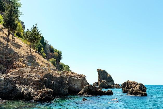 푸른 하늘, 아름다운 자연과 산과 바다 풍경