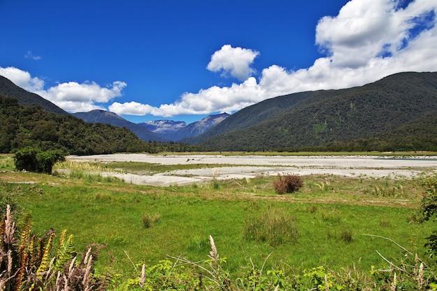 뉴질랜드 남섬의 계곡