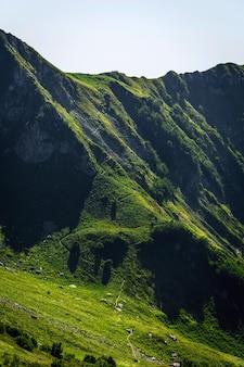Soch의 krasnaya polyana 리조트 근처 sochi의 여름에 aibga ridge 산