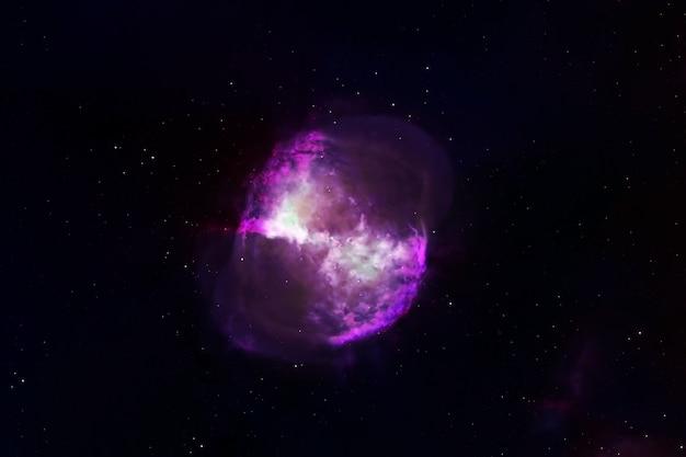 宇宙を背景にした中性子星。 nasaから提供されたこの画像の要素。高品質の写真