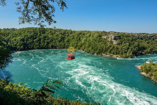 Река ниагара у порогов водоворот на границе канады и сша.