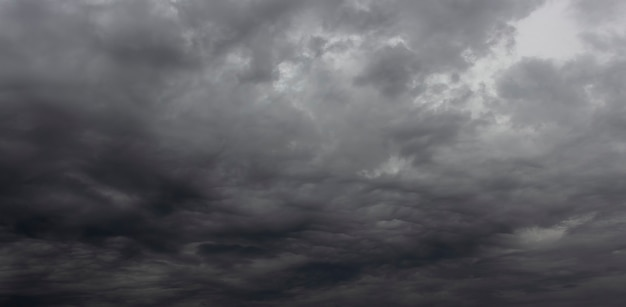 夜空は黒い嵐の雲で覆われています。