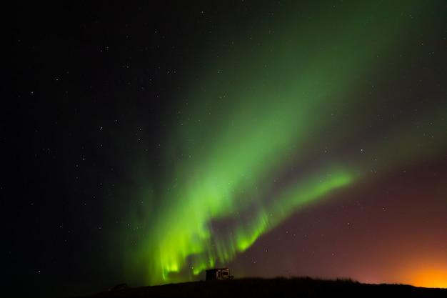 Северное сияние северного сияния исландия